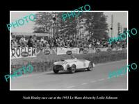 OLD 6 X 4 HISTORIC PHOTO OF NASH HEALEY RACE CAR AT LE MANS 1953 1
