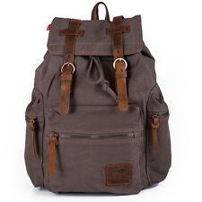 Vintage Canvas Sport Backpack Rucksack Satchel Travel Hiking School Bag Outdoor