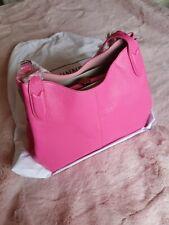 LULU GUINNESS  PINK BAG /PEONY ROSE LEATHER  HANDBAG WITH LIPS CLASP BNWT 👄