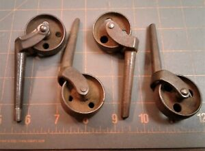 Set of 4 Antique Iron Furniture Casters