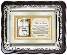 Personalized Wedding Picture Frame Photo Plaque For Bride Daughter and Groom Son