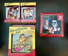 6 Collectible Hanna Barbera Christmas Ornaments. Jetsons Flintstones Tom Jerry