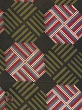 Antique 1870 Striped Octagon Fabric