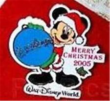 Santa Mickey Merry Xmas 2005 Holiday Le Wdw Disney Pin + Stocking Ornament