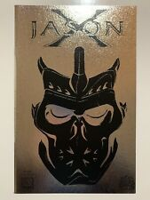 Jason X Special #1, Leather Edition, NM+ 9.6 Avatar black with silver foil