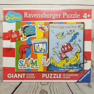 New Ravensburger 60 Pieces Giant Floor Puzzle Dr. Seuss Green Eggs and Ham 2017