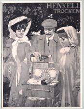Cartellone, HENKELL secco, grafica, circa 1960