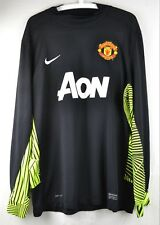 Manchester United XL Goalkeeper Long Sleeve Shirt Top Jersey Nike Black