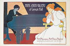Original Vintage Poster Park South Gallery Hans Pfaff Piano Art Nouveau NYC City