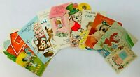 Vintage Birthday Cards Lot of 8 USED Pleasant Thoughts Fairfield Line Set 5