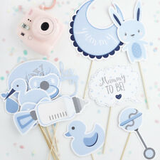 Pack of 13 Oh Baby Boy blue photo booth props for baby shower games etc