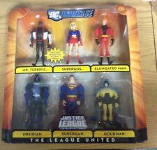 DC Universe JLU The League United Mr Terrific Supergirl Obsidian Hourman Superma