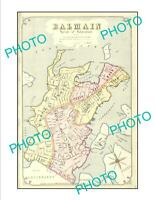 OLD 6 X 4 HISTORIC PRINT OF SYDNEY NSW COUNCIL BOUNDRIES MAP BALMAIN c1900
