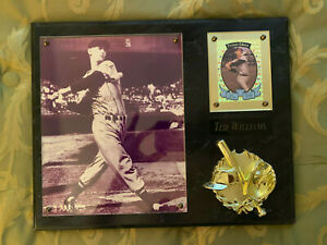 Ted Williams signed plaque with COA