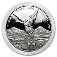 LIBERTAD - MEXICO - 2020 1 oz Proof Silver Coin in Capsule - Mintage of 5,850