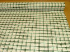 Prestigious Textiles Green / Off White Check  Curtain /  Xmas Tablecloth Fabric