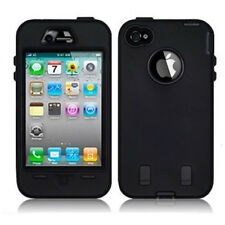 Black Shock Proof Armoured Hard Case Rubber Gel Skin Cover For Apple iPhone SE