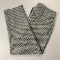 LOFT Women's Size 2P Gray, Black, White Polka Dot Original Ankle Pant Dress Pant