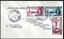 Gilbert & Ellice Island 1946 Victory on Registered Cover to England