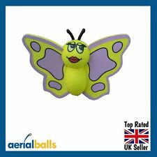SALE...Yellow Butterfly Car Aerial Ball Antenna Topper or Dashboard Wobbler