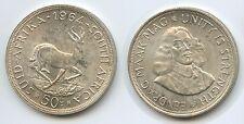 G0704 - Südafrika 50 Cents 1964 KM#62 Silber South Africa Suid-Afrika
