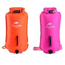 2Pcs High Visible Swim Buoy Safety Swimming Tow Float Dry Bag & Waist Belt