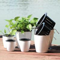 Indoor Outdoor Flowerpots Self Watering Hanging Flower Planter Pots Wall Plant