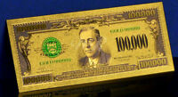 "★ BILLET POLYMER  "" OR "" DU 100000 DOLLARS 1928 USA ★ DESTOCKAGE ★★"