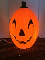 Blow Mold Halloween Pumpkin Union Don Featherstone With  LED Bright Light Bulb