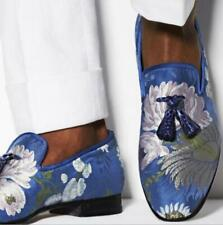 Mens Youth Fashion Floral Tassel Slip On Casual Formal Dress Loafers Shoes New