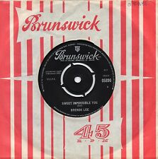 BRENDA LEE sweet impossible you*the grass is greener 1963 UK BRUNSWICK 45