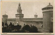 1926 Milano Castello Sforzesco Torri Ferrovia Olanda Leiden FP B/N VG