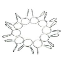 10pcs 10mm Fuel Line Hose Tubing Spring Clips Clamps For Motorcycle ATV Scooter