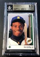 KEN GRIFFEY JR 1989 UPPER DECK #1 STAR ROOKIE RC BGS 9.5 GEM MINT