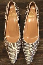 L'Artigiano Torlasco Shoes Womens Size 8 Leather Pumps Snake/Python 482T