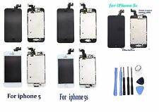 Touch LCD Digitizer Screen Replacement + Home Button Camera For iPhone 5 5C 5S
