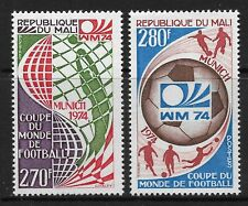STAMPS-MALI. 1974. World Cup Football-Germany Set. SG: 436/37. Mint Never Hinged