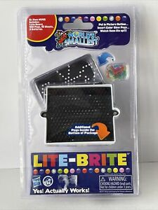 World's Smallest LITE BRITE Art Toy Doll House Miniature Light Bright Pegs Paper