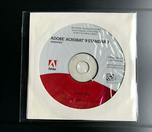 Adobe Acrobat 9 Standard for Windows with Serial Number*