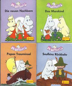 Top-Neuware: alle 4 Mumins Ausgaben aus der Minibuchserie von PESTALOZZI PeVau