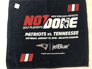 New England Patriots 2017 Playoffs Rally Towel NOT DONE YET Pats vs Tennessee