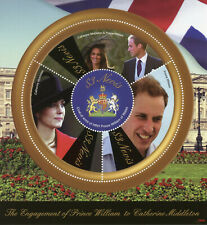 Nevis Royalty Stamps 2010 MNH Royal Engagement Prince William & Kate 4v M/S II