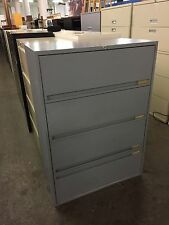 """4Dr 36""""W x 18""""D x 51""""H LATERAL FILE CABINET by STORWAL OFFICE FURN w/ LOCK & KEY"""