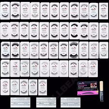 AmorUS 100% Human Hair Eye Lashes False Eyelashes (pack of 12 pairs) - PICK 12