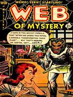 COMIC SUPER HERO COVER WEB OF MYSTERY 1 VINTAGE RETRO POSTER ART PRINT 1294PY