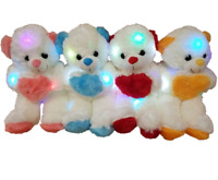 Teddy Bear Soft Cuddly Glow Light up Colour Changing Night Light Different size