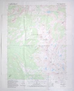 USGS Map Merced Peak Yosemite National Park Calif Topographical 1995 Topo
