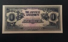 The Japanese Government One Dollar WWII Banknotes Invasion Money -