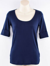 LAUREN RALPH LAUREN Women's Round Neck T-shirt Top, Navy Blue, size SMALL