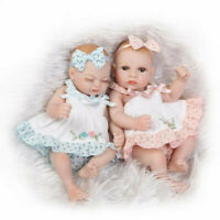"11"" Lifelike Handmade Full Silicone Body Newborn Doll Silicone Reborn Girl Dolls"